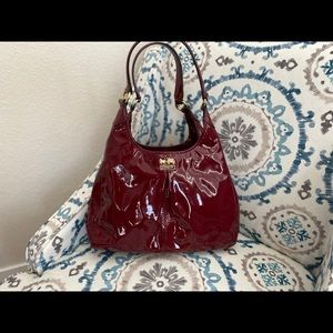 Lovely red Patent Leather Coach Purse